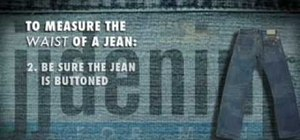 Measure the waist size of your jeans