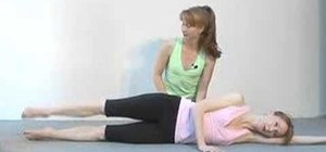 Do a side leg lift circle pilates exercise