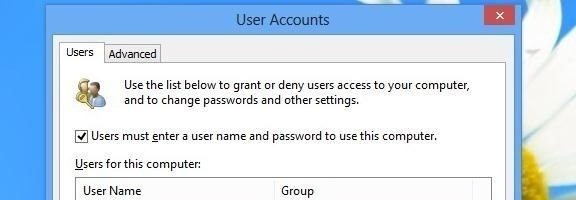 How to Bypass the Password Login Screen on Windows 8