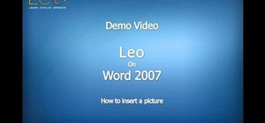 Insert a picture into a Microsoft Word document using Leo from Kryon Systems