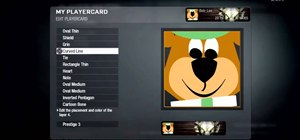 Make a Yogi Bear playercard emblem in Call of Duty: Black Ops
