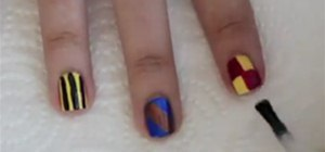 Paint Hogwarts House Nails for a Harry Potter Costume