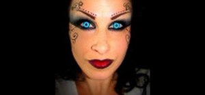 Create a macabre and beautiful dark fairy Halloween makeup look