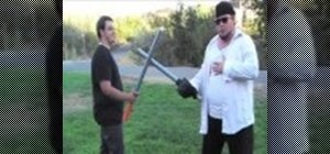 Boffer sword fight with speed tactics
