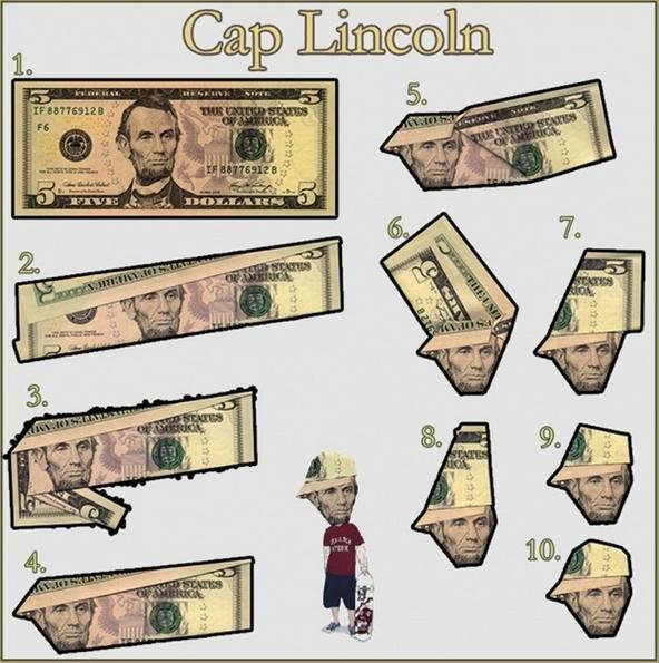 Make Abe Lincoln Look Like A B Boy 5 Dollar Bill Origami