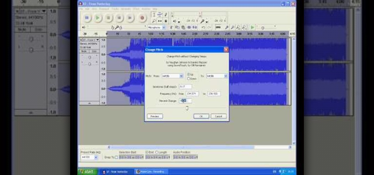 how to turn a male voice to female voice with audacity audacity