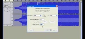 Turn a male voice to female voice with Audacity