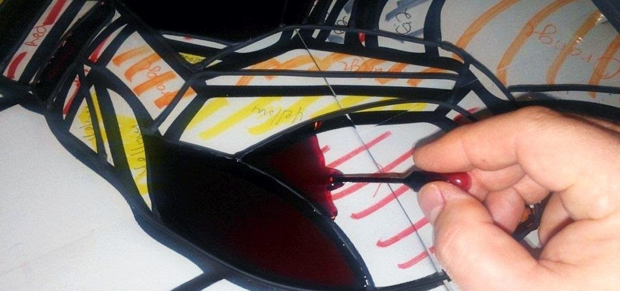 Turn a Boring Transparent Window into a Colorful Faux Stained Glass Masterpiece