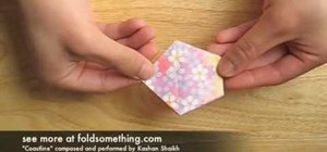 Fold an origami cherry blossom