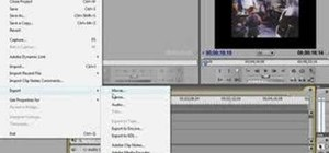 Export video to iPods or YouTube in Premiere CS3