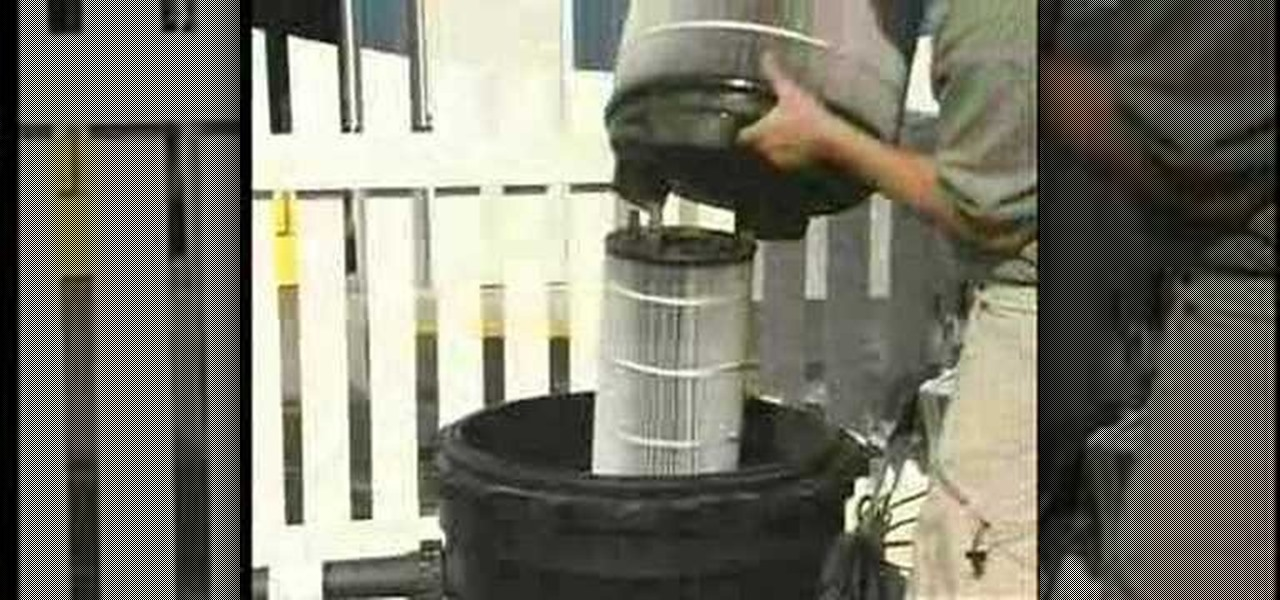 How to operate and clean an in ground pool cartridge How to clean swimming pool filter cartridge