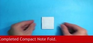 Do the origami compact note fold