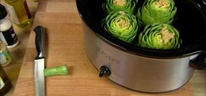 Cook artichokes in a crock pot