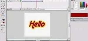 Create animated glowing text on Flash Professional 8