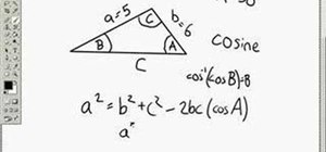Use cosine and arc cosine functions in trigonometry
