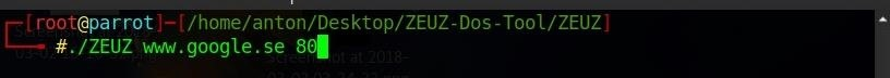 ZEUZ Dos Tool