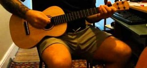 "Play ""Viva la Vida"" by Coldplay on baritone ukulele"
