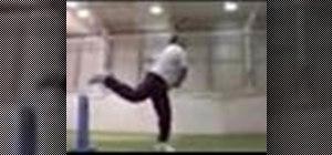 Leg spin bowl in cricket