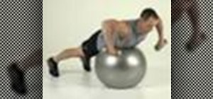 Tone arms with a lying Swiss ball row with rotation