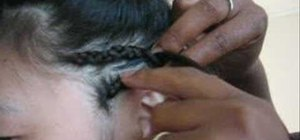 Braid extensions into hair