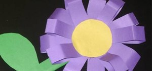 Craft a 3D toy flower with your kids