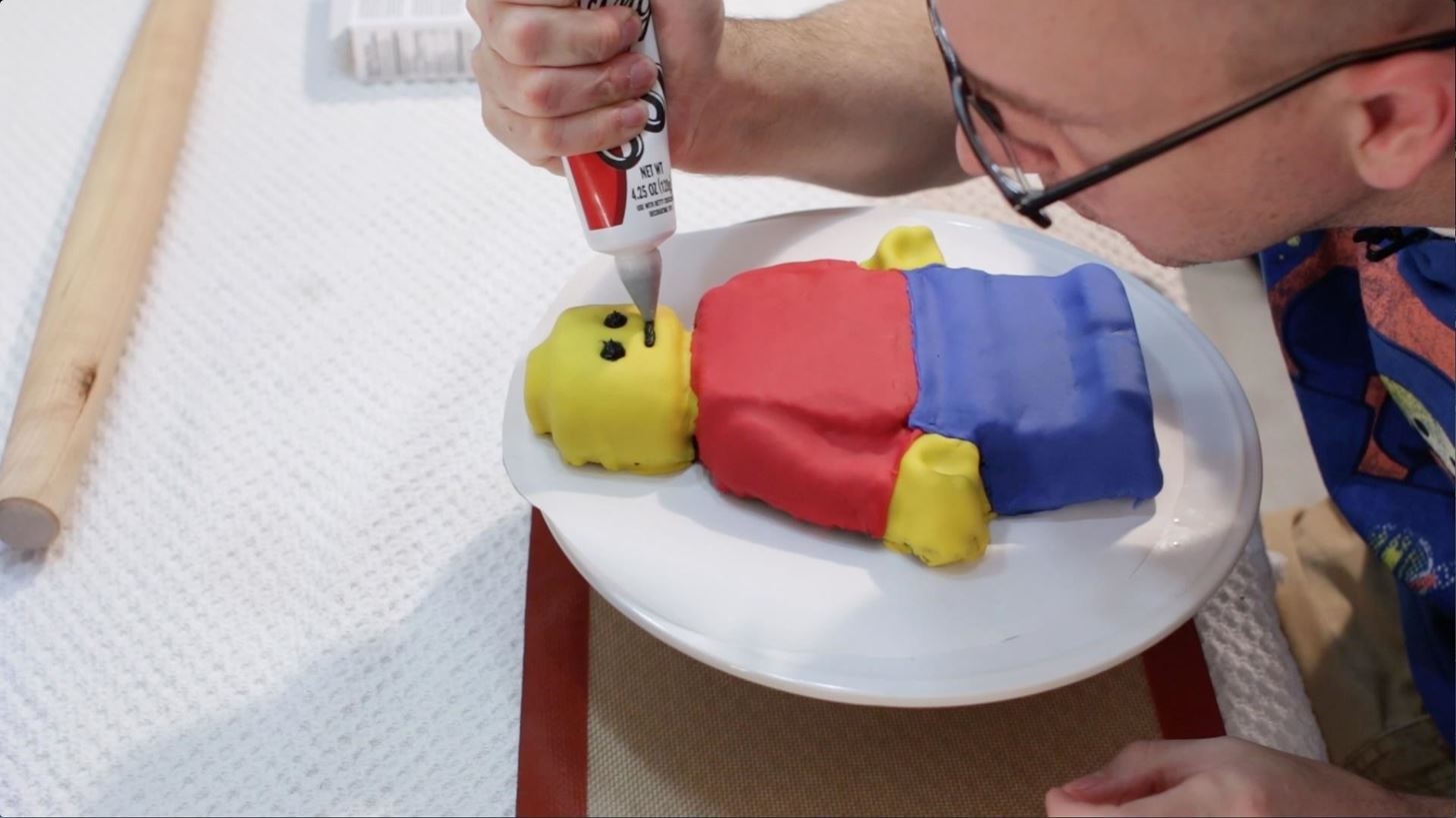 How to Make a Lego Man Cake