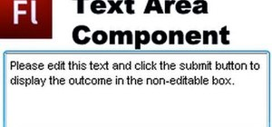 Utilize the Text Area Component when building a website in Flash