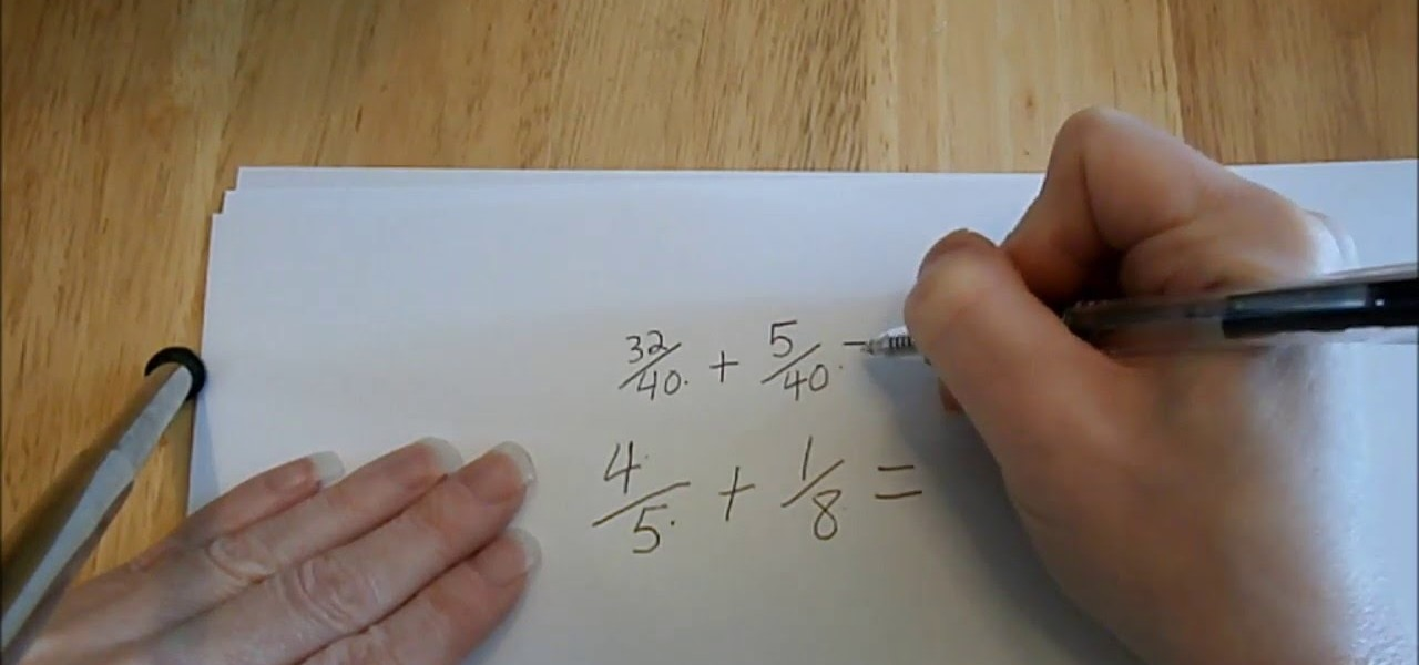 Add Fractions with Unlike Denominators Tutorial