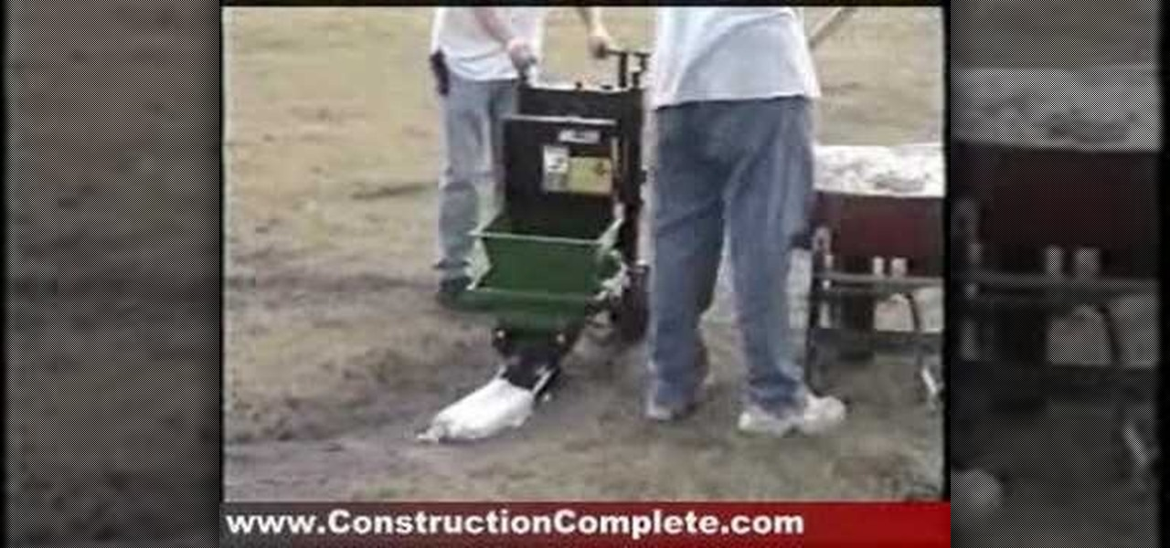 How To Use A Curbing Machine To Pour Concrete 171 Tools