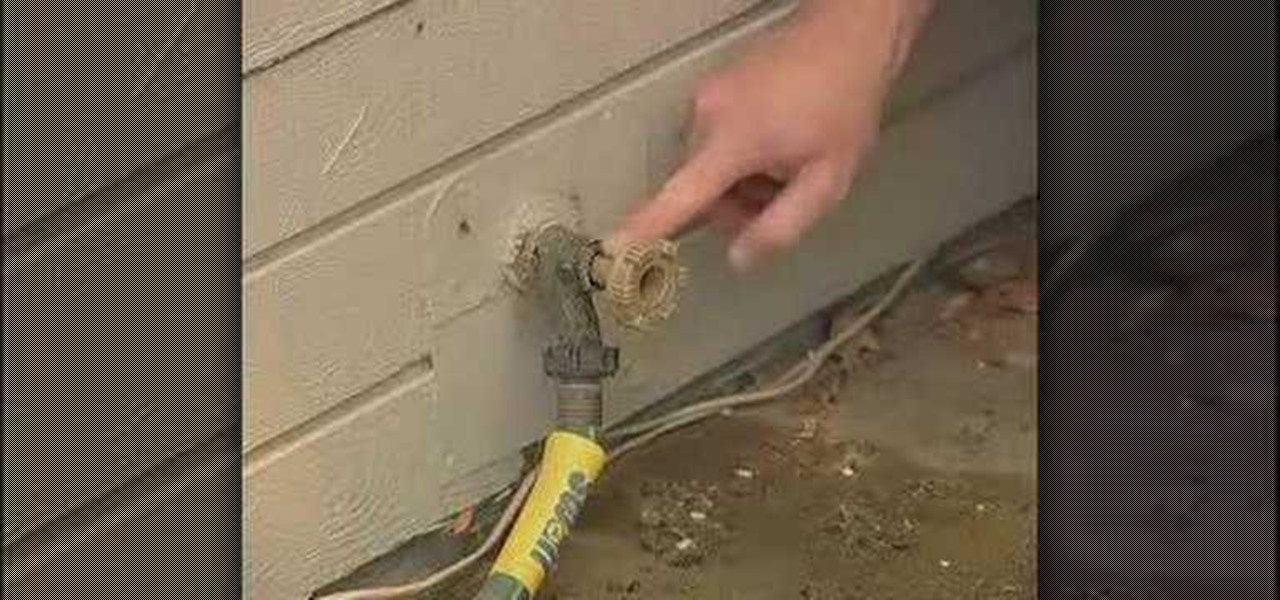 How to Fix a leaky garden hose spigot Construction Repair