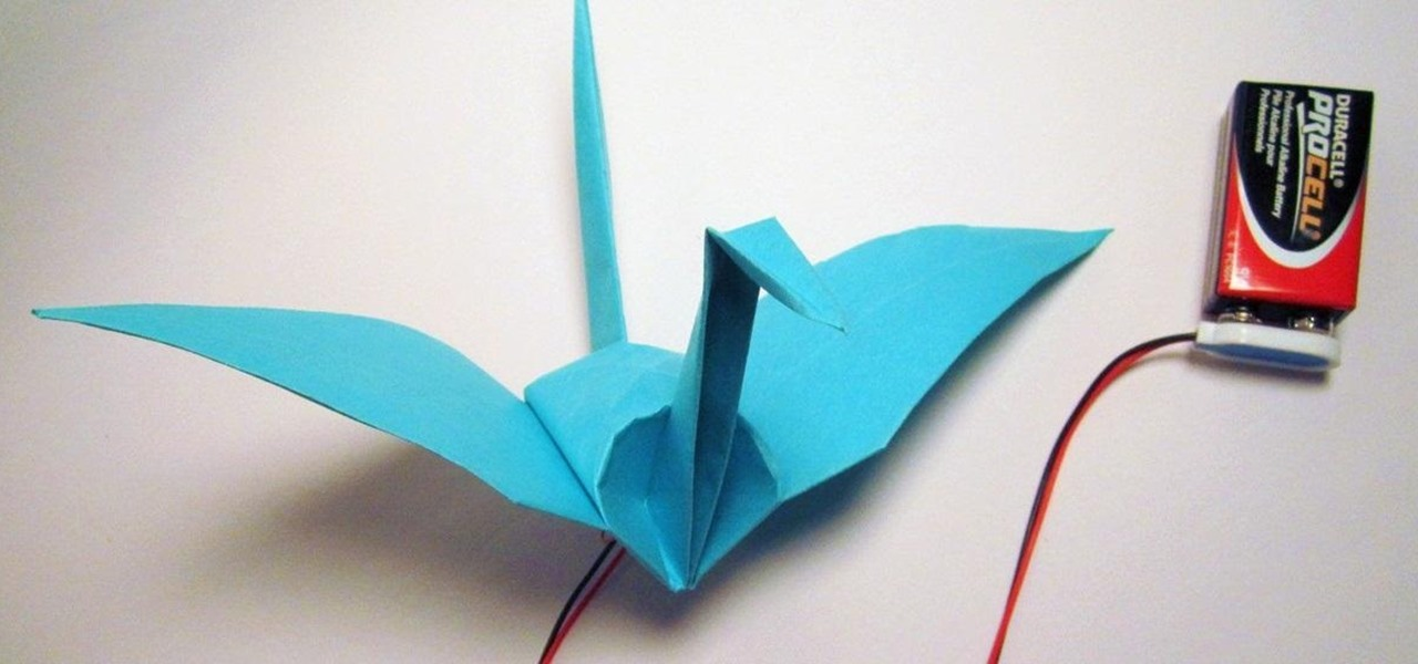 Make an Electronic Origami Crane That Flaps Its Own Wings