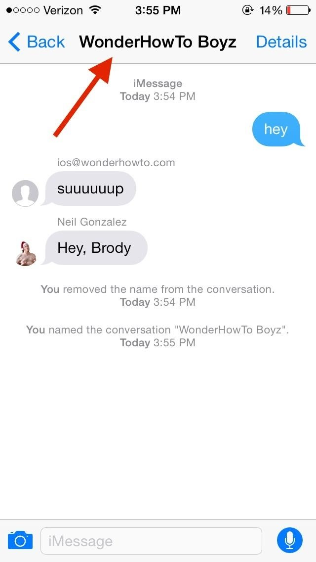 how to leave a group chat names