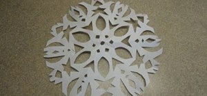 Craft simple six-pointed paper snowflake decorations for Christmas