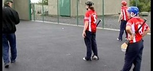 Practice the lift & strike skills in hurling