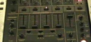 Plug two DJ mixers in together