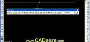 Use undo, redo and toolbars in AutoCAD 2008