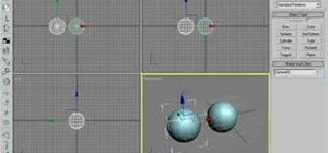 how to create a flotoing bar in 3dsmax