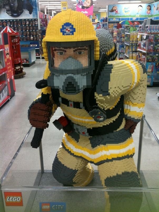 LEGO Fireman at Toys R Us