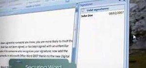 Secure MS Word documents with Digital Signatures