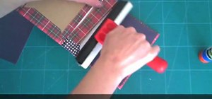 Make a journal from packaging materials