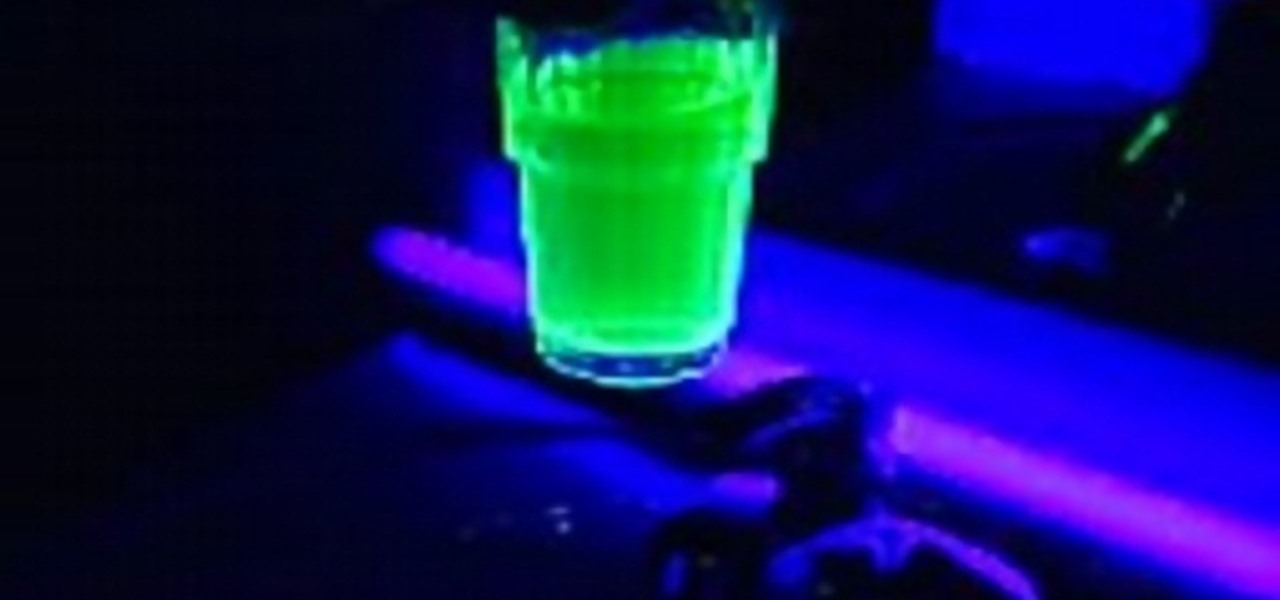 How to Make glowing water « Science Experiments :: WonderHowTo