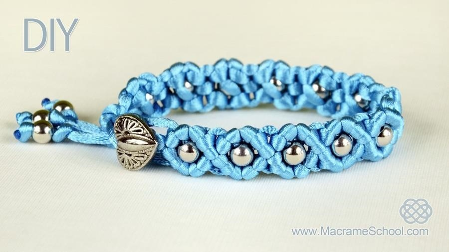 DIY Easy Wave Bracelet with Satin Cord