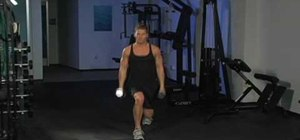 Strengthen your legs with walking lunges