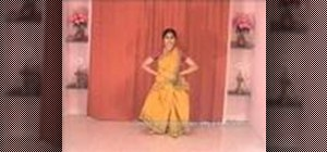 "Perform ""Ardhamandala"" in Indian Bharatanatyam dance"