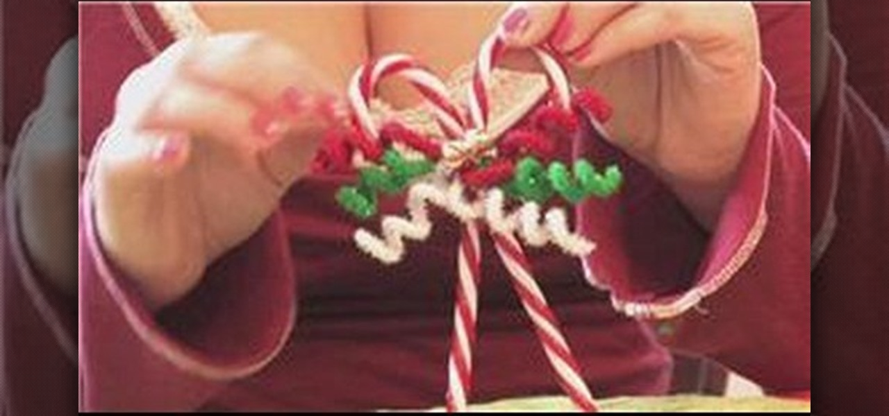 How to Make candy cane Christmas tree ornaments « Christmas Ideas :: WonderHowTo