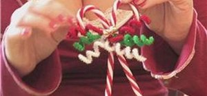 Make candy cane Christmas tree ornaments