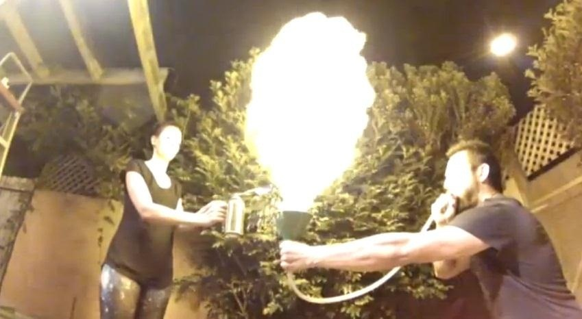How to Use a Funnel and Butane Torch to Make a Huge Corn-Flour Fireball