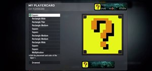 Make a Mario question block Call of Duty Black Ops emblem