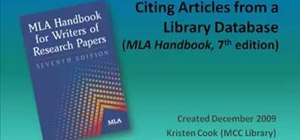 Cite articles from online library databases in MLA