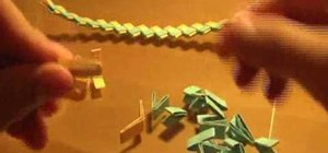 Make a wrapper chain from candy wrappers